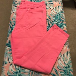 JCP Skinny Ankle Jeans in Punch Pink